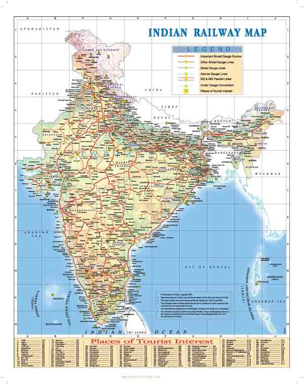 Railway Map Of India Pdf.Download Train Route Map Of Indian Railways Book Rail Ticket India